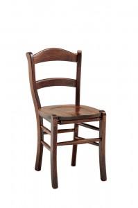 Klasična drvena stolica u boji oraha. Može se naručiti i u drugim bojama drva.