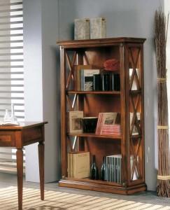 Klasična biblioteka otvorenog tipa. Izrađena je od masivnog drva, u boji oraha. Može se naručiti u drugim bojama i veličinama.