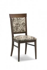 Moderna stolica od drva, te sjedištem koje se može naručiti u različitim materijalima i bojama. Boju drva si kupac sam bira.