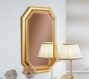 Klasično ogledalo sa pozlatom, dimenzije 62x82 cm. Može se naručiti i u drugim bojama.
