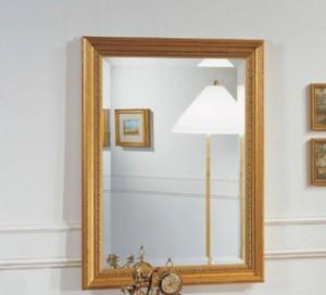 Klasično ogledalo pozlaćeno, dimenzije 60x80 h. Može se naručiti i u drugim bojama i veličinama.
