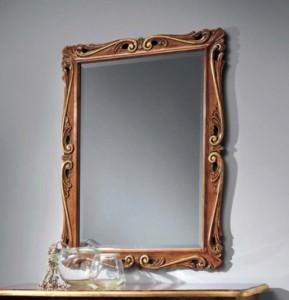 Klasično ogledalo, izrezbareno, dimenzije 87x118 h. Može se naručiti i u drugim bojama.