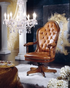 Uredska fotelja od kože, model